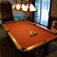 Golden West Oak Pool Table