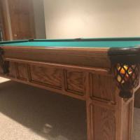 Gorgeous Oak Pool Table
