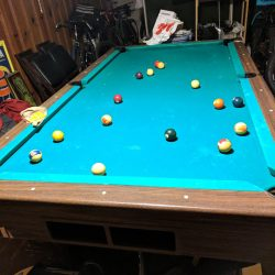 3 piece slate pool table